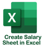 How to Create Salary Sheet in MS Excel Bangla Video